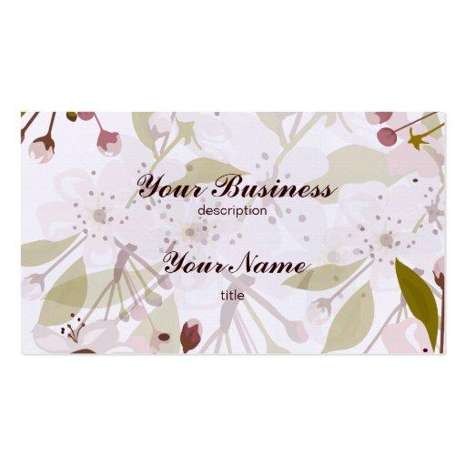 Plantilla del lino del negocio de la flor de tarjetas de visita