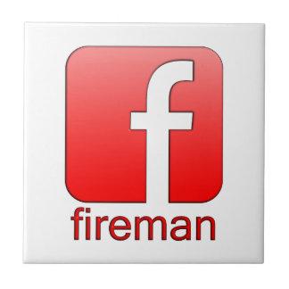 Plantilla del logotipo de Facebook del bombero Azulejos Cerámicos