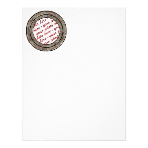 Plantilla del marco de la foto del círculo del des flyer personalizado