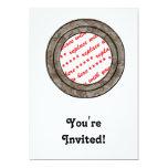Plantilla del marco de la foto del círculo del invitación 12,7 x 17,8 cm