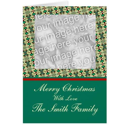 Plantilla del marco de la foto del navidad felicitacion