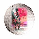 Plantilla del marco de la pelota de golf escultura fotografica