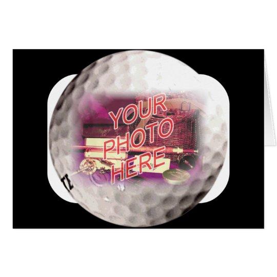 Plantilla del marco de la pelota de golf tarjeta de felicitación
