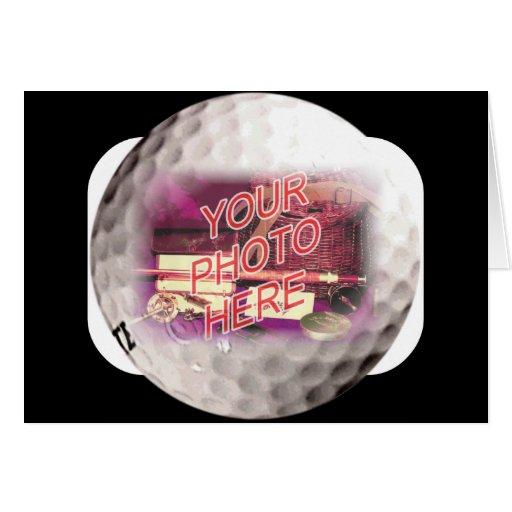 Plantilla del marco de la pelota de golf tarjetón