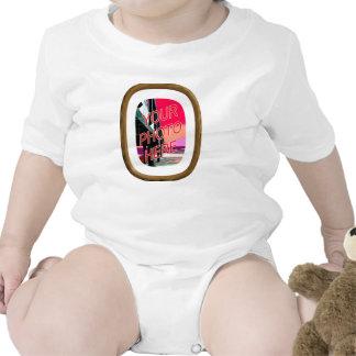 Plantilla del marco del roble traje de bebé