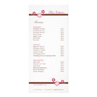 Plantilla del menú del balneario de Sakura - el Tarjeta Publicitaria A Todo Color