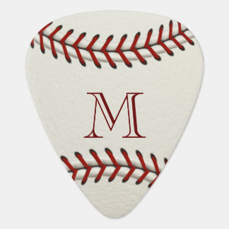 Plantilla del monograma del béisbol púa de guitarra