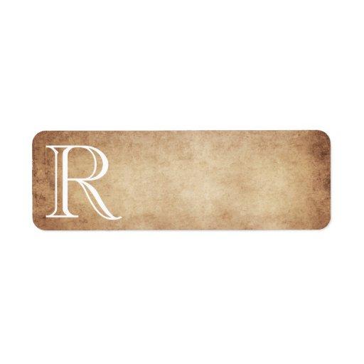 Plantilla del monograma del papel de la antigüedad etiquetas de remite