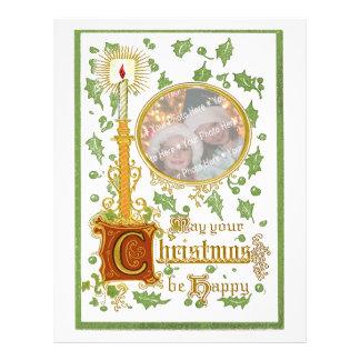Plantilla del navidad de la foto de la palmatoria membretes personalizados