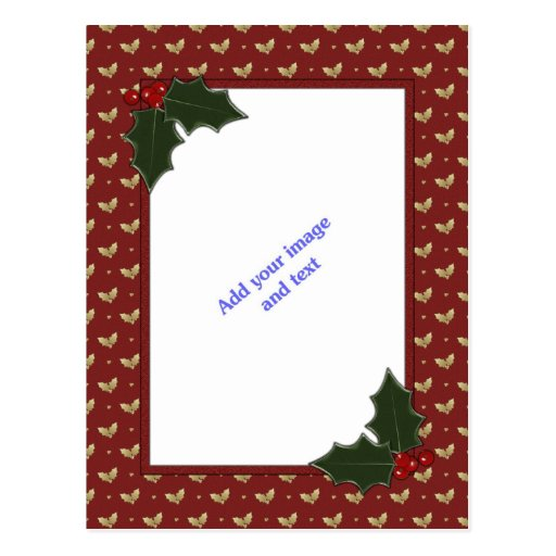 Plantilla del navidad tarjeta postal