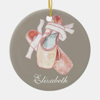 Plantilla del nombre del arte de los deslizadores adorno navideño redondo de cerámica