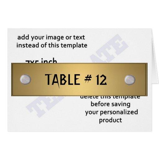 Plantilla del número de la tabla del diseño modern tarjeta pequeña