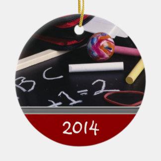 Plantilla del ornamento del navidad del PROFESOR Adorno Navideño Redondo De Cerámica