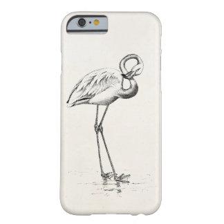 Plantilla del pájaro de la antigüedad del pájaro funda barely there iPhone 6