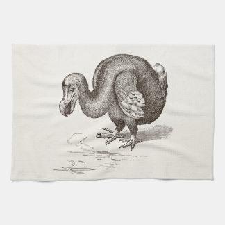 Plantilla del pájaro de la antigüedad del pájaro toalla de mano