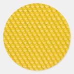 Plantilla del panal para que abejas trabajen pegatina redonda