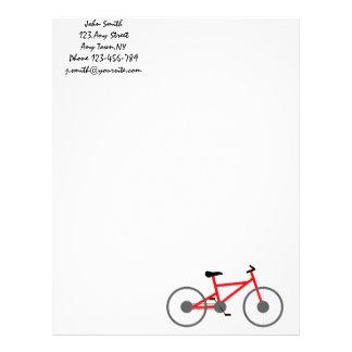 Plantilla del papel con membrete de la bicicleta membrete