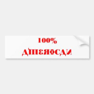 Plantilla del parachoque del americano del 100% pegatina para auto