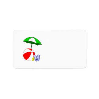 Plantilla del paraguas de la piscina de la pelota etiqueta de dirección
