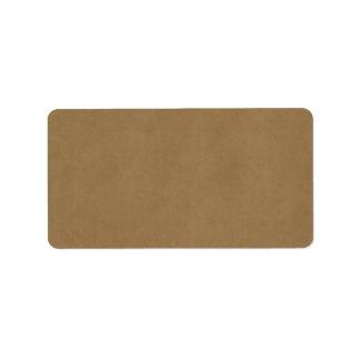 Plantilla del pergamino de Brown del cuero del ant Etiqueta De Dirección