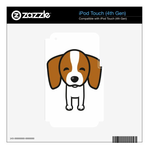 Plantilla del perro skins para iPod touch 4G
