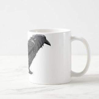 Plantilla del personalizar del pájaro de los cuerv taza de café