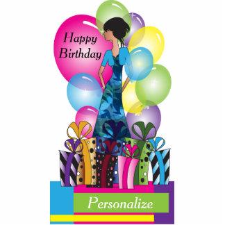 Plantilla del personalizar para un cumpleaños o un fotoescultura vertical