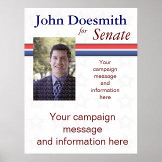 Plantilla del poster de la campaña política