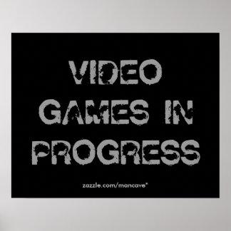 Plantilla del poster de los videojuegos