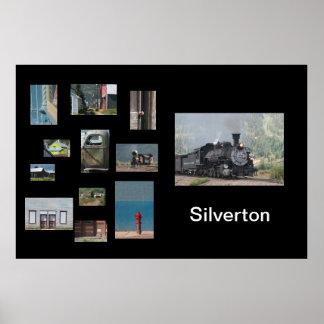 Plantilla del poster del viaje del collage de la f