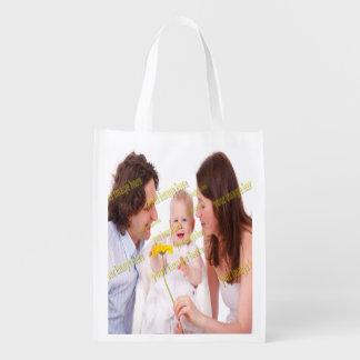 Plantilla del presupuesto familiar de la foto bolsas de la compra