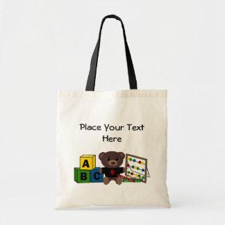Plantilla del regalo del profesor bolsas de mano