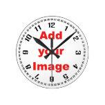 Plantilla del reloj - los números y los segundos a