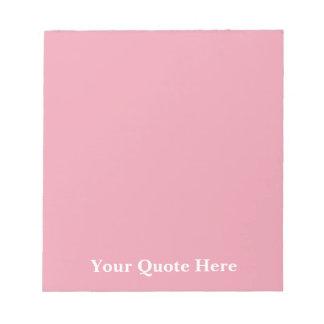 Plantilla del rosa color de rosa libretas para notas