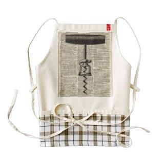 Plantilla del sacacorchos del vintage en la página delantal zazzle HEART