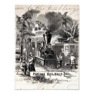 Plantilla del tren de ferrocarril del Canal de Pan Fotografía