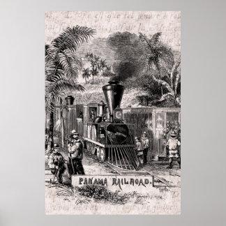 Plantilla del tren de ferrocarril del Canal de Pan Impresiones