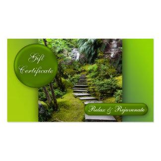 Plantilla del vale de la belleza del masaje del ba tarjetas de visita