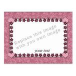 Plantilla - diseño rosado del corazón postal