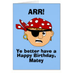 Plantilla divertida de la tarjeta de cumpleaños de