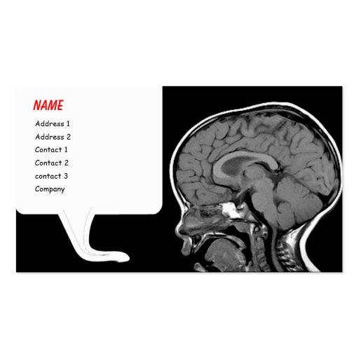 Plantilla divertida de la tarjeta de visita de MRI