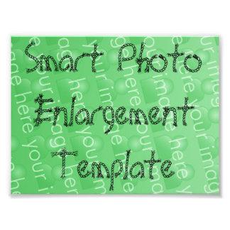 Plantilla elegante de la ampliación de la foto