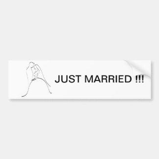 Plantilla elegante de la silueta de novia y del no pegatina para auto