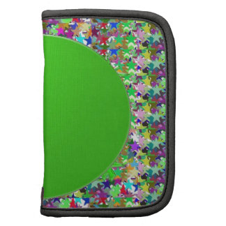 Plantilla elegante del disco verde: Añada los salu Planificador