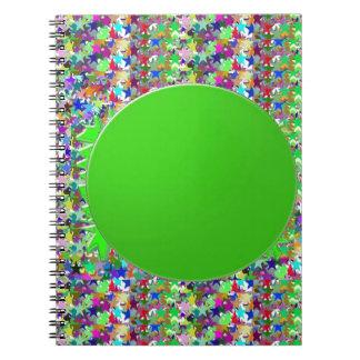 Plantilla elegante del disco verde: Añada los salu Libretas Espirales