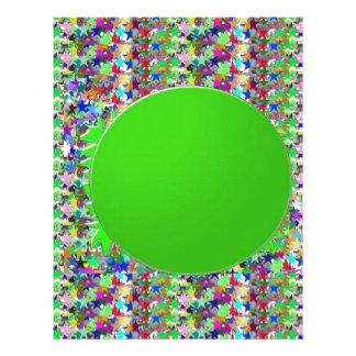 Plantilla elegante del disco verde: Añada los salu Membrete Personalizado