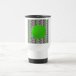 Plantilla elegante del disco verde Añada los salu Taza