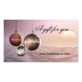 Plantilla elegante del vale del navidad tarjetas de visita