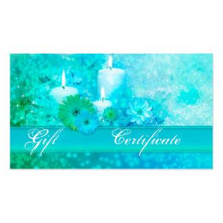 Plantilla elegante del vale del regalo de la salud tarjetas de visita