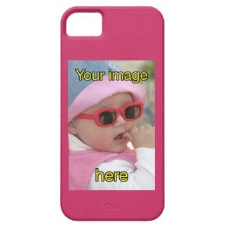 Plantilla en blanco de bebé con gafas de sol iPhone 5 funda